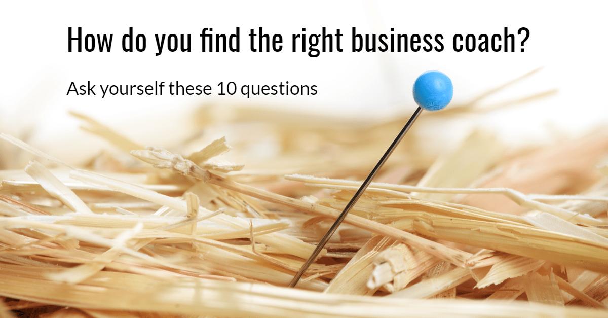 Hulp bij het vinden van de juiste business coach